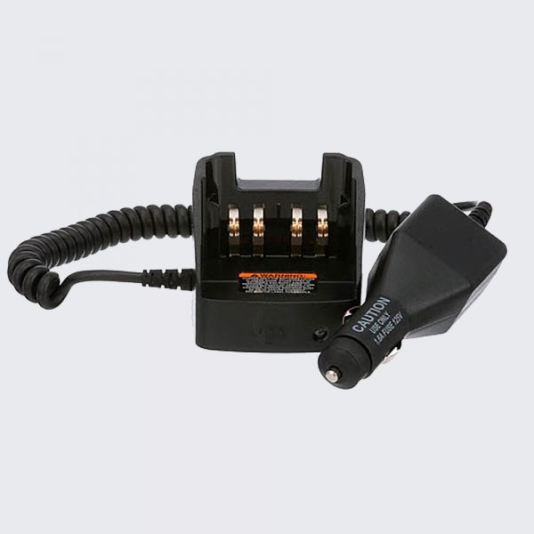 The RLN6434 APX™ Travel Charger allows you to communicate with your radio while simultaneously charging your battery.