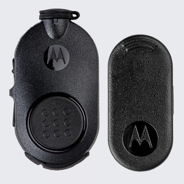 The NTN2571 Mission-Critical wireless PTT pod offers a flexible way to wirelessly connect with any earpiece connected to your radio.